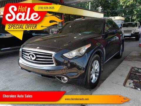 2013 Infiniti FX37 for sale at Cherokee Auto Sales in Acworth GA