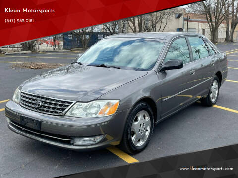 2003 Toyota Avalon for sale at Klean Motorsports in Skokie IL