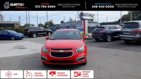 2016 Chevrolet Cruze Limited for sale at Quattro Motors 2 - 1 in Redford MI
