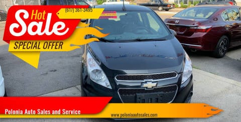 2013 Chevrolet Spark for sale at Polonia Auto Sales and Service in Hyde Park MA