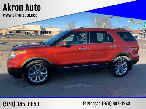 2014 Ford Explorer for sale at Akron Auto - Fort Morgan in Fort Morgan CO