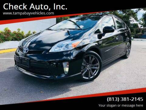 2013 Toyota Prius for sale at CHECK  AUTO INC. in Tampa FL