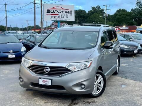 2012 Nissan Quest for sale at Supreme Auto Sales in Chesapeake VA