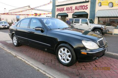 2002 Mercedes-Benz S-Class for sale at PARK AVENUE AUTOS in Collingswood NJ