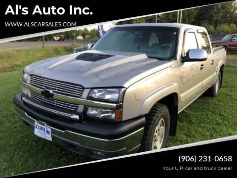 2005 Chevrolet Silverado 1500 for sale at Al's Auto Inc. in Bruce Crossing MI