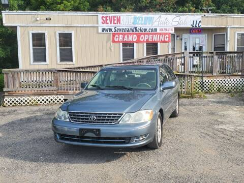2004 Toyota Avalon for sale at Seven and Below Auto Sales, LLC in Rockville MD