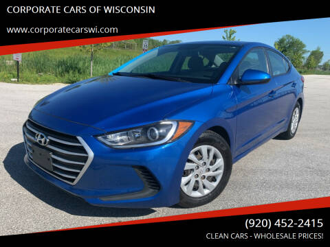 2017 Hyundai Elantra for sale at CORPORATE CARS OF WISCONSIN in Sheboygan WI