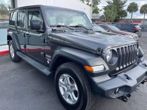 2018 Jeep Wrangler Unlimited for sale at WHEEL UNIK AUTOMOTIVE & ACCESSORIES INC in Orlando FL