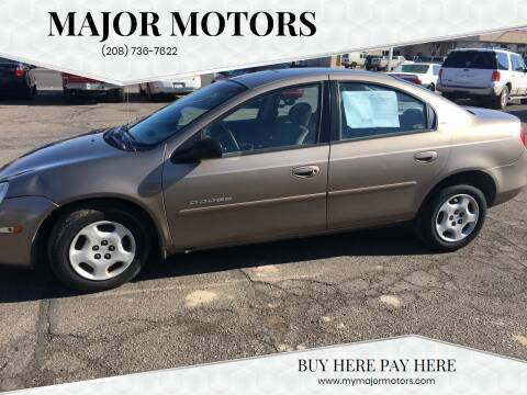 2001 Dodge Neon for sale at Major Motors in Twin Falls ID
