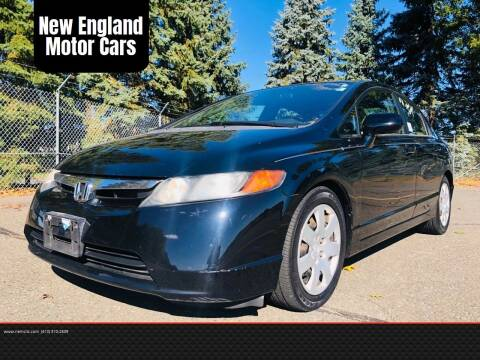 2007 Honda Civic for sale at New England Motor Cars in Springfield MA
