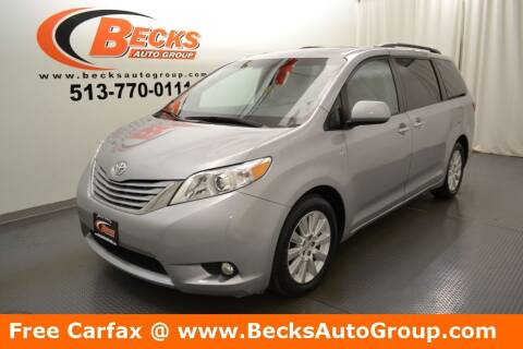 2016 Toyota Sienna for sale at Becks Auto Group in Mason OH