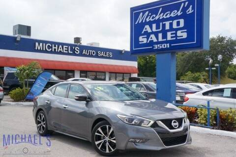 2018 Nissan Maxima for sale at Michael's Auto Sales Corp in Hollywood FL