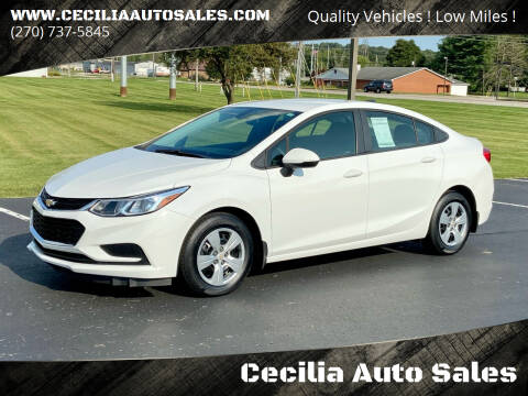 2016 Chevrolet Cruze for sale at Cecilia Auto Sales in Elizabethtown KY