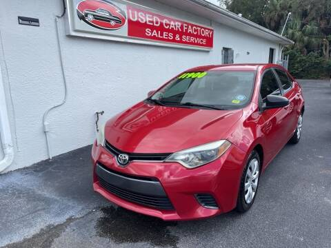 2015 Toyota Corolla for sale at Used Car Factory Sales & Service in Port Charlotte FL