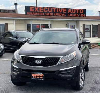 2015 Kia Sportage for sale at Executive Auto in Winchester VA