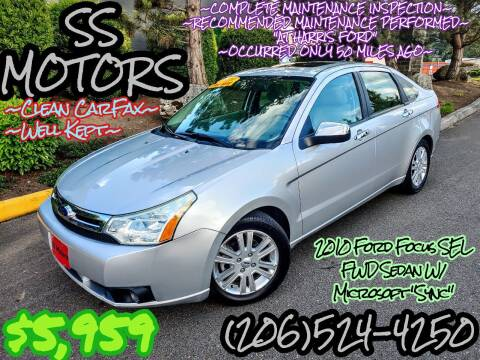 2010 Ford Focus for sale at SS MOTORS LLC in Edmonds WA