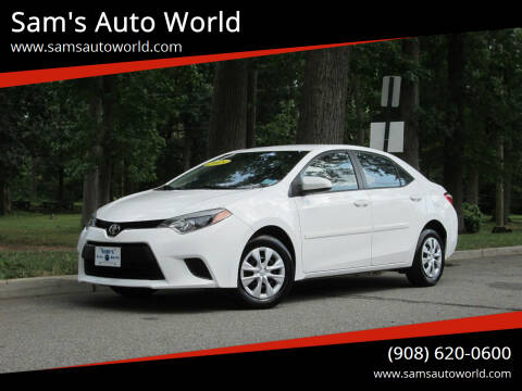 2015 Toyota Corolla for sale at Sam's Auto World in Roselle NJ
