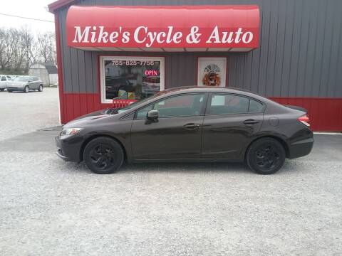 2013 Honda Civic for sale at MIKE'S CYCLE & AUTO in Connersville IN
