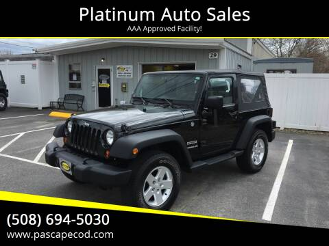 2010 Jeep Wrangler for sale at Platinum Auto Sales in South Yarmouth MA