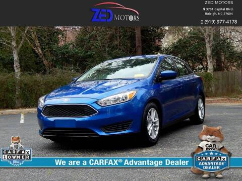 2018 Ford Focus for sale at Zed Motors in Raleigh NC
