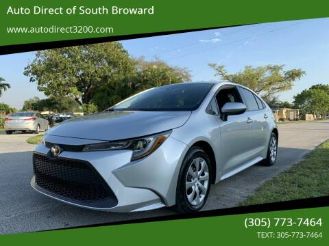 2020 Toyota Corolla for sale at Auto Direct of South Broward in Miramar FL