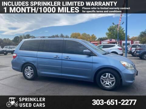 2005 Honda Odyssey for sale at Sprinkler Used Cars in Longmont CO