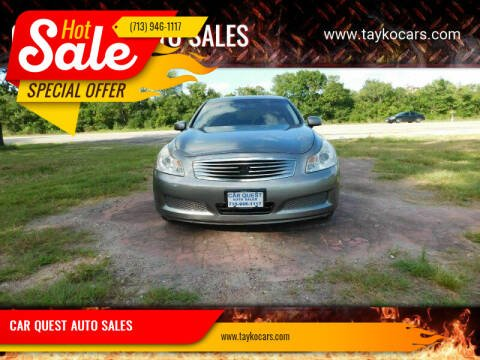 2008 Infiniti G35 for sale at CAR QUEST AUTO SALES in Houston TX