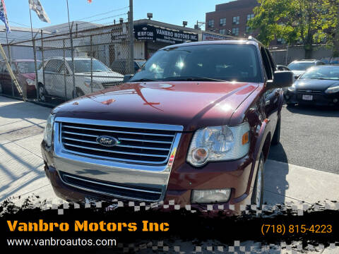 2010 Ford Explorer for sale at Vanbro Motors Inc in Staten Island NY