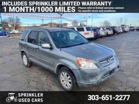 2005 Honda CR-V for sale at Sprinkler Used Cars in Longmont CO