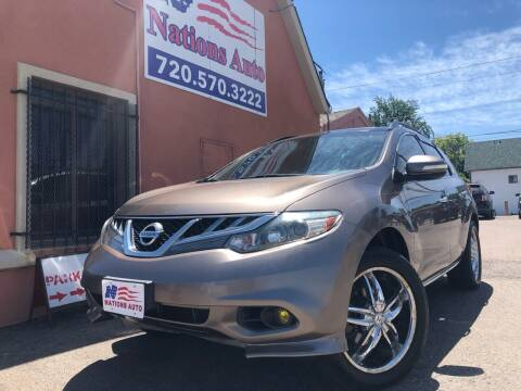 2011 Nissan Murano for sale at Nations Auto Inc. II in Denver CO