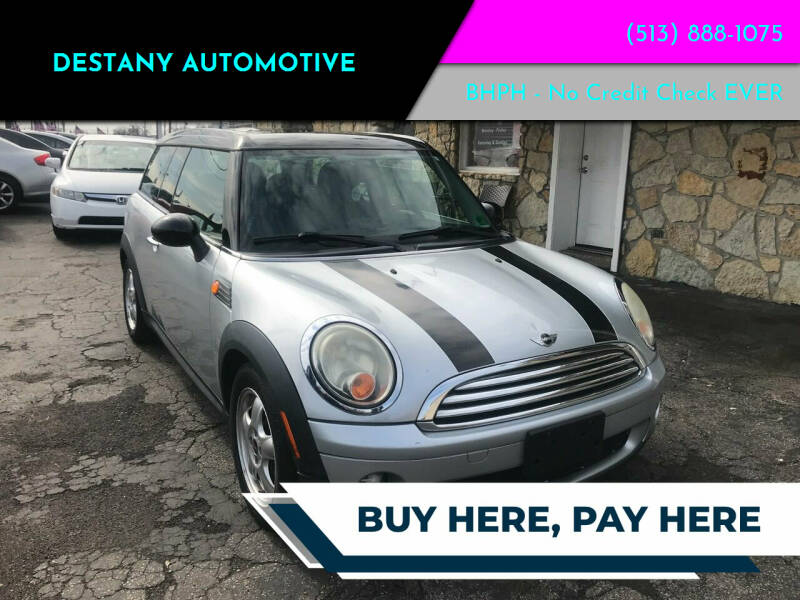 2010 MINI Cooper Clubman for sale at DestanY AUTOMOTIVE in Hamilton, Oh OH