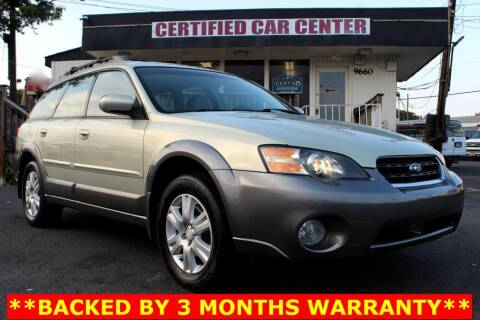 2005 Subaru Outback for sale at CERTIFIED CAR CENTER in Fairfax VA