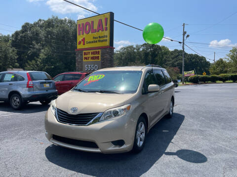 2011 Toyota Sienna for sale at No Full Coverage Auto Sales in Austell GA