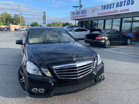2010 Mercedes-Benz E-Class for sale at Trust Autos, LLC in Decatur GA