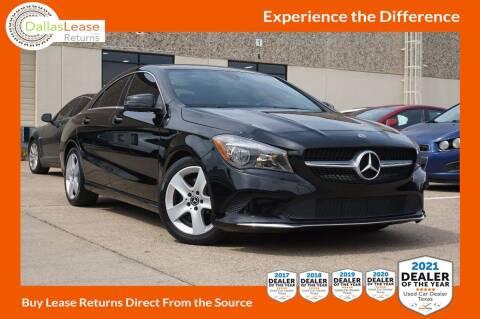 2018 Mercedes-Benz CLA for sale at Dallas Auto Finance in Dallas TX