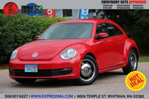 2012 Volkswagen Beetle for sale at Auto Sales Express in Whitman MA