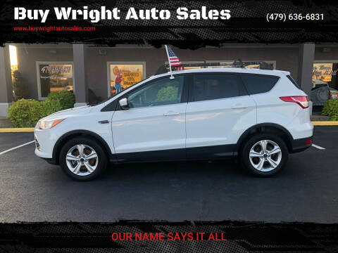 2016 Ford Escape for sale at Buy Wright Auto Sales in Rogers AR