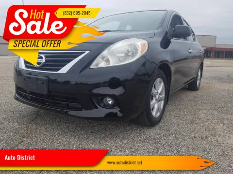 2013 Nissan Versa for sale at Auto District in Baytown TX