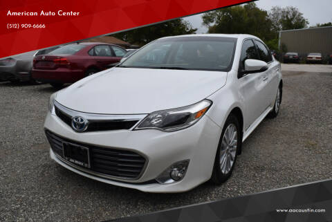 2013 Toyota Avalon Hybrid for sale at American Auto Center in Austin TX