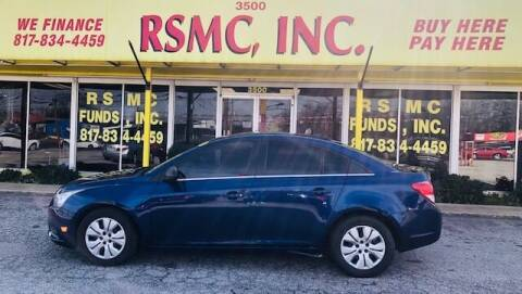 2012 Chevrolet Cruze for sale at Ron Self Motor Company in Fort Worth TX
