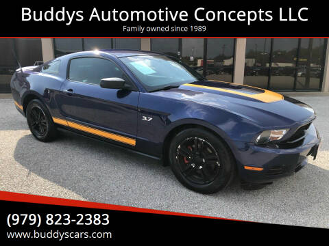 2012 Ford Mustang for sale at Buddys Automotive Concepts LLC in Bryan TX