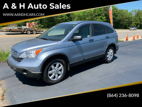 2009 Honda CR-V for sale at A & H Auto Sales in Greenville SC