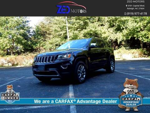 2014 Jeep Grand Cherokee for sale at Zed Motors in Raleigh NC