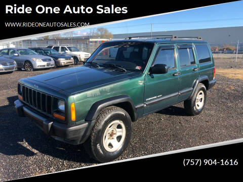 2000 Jeep Cherokee for sale at Ride One Auto Sales in Norfolk VA
