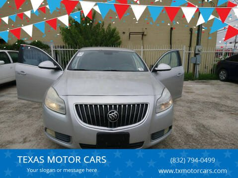 2011 Buick Regal for sale at TEXAS MOTOR CARS in Houston TX