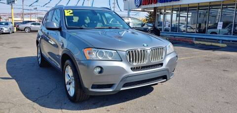 2012 BMW X3 for sale at I-80 Auto Sales in Hazel Crest IL