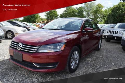 2015 Volkswagen Passat for sale at American Auto Center in Austin TX
