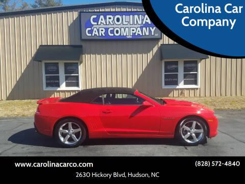 2015 Chevrolet Camaro for sale at Carolina Car Company in Hudson NC