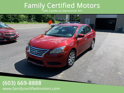 2013 Nissan Sentra for sale at Family Certified Motors in Manchester NH