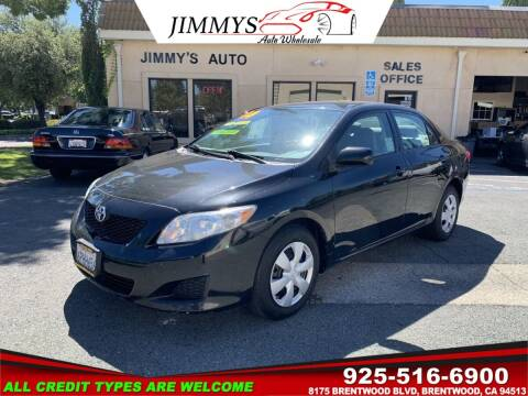 2010 Toyota Corolla for sale at JIMMY'S AUTO WHOLESALE in Brentwood CA